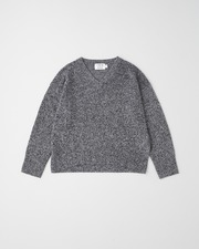 PLAIN STITCH V-NECK PULL OVER 9G 詳細画像 メランジ 11