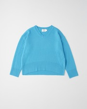 PLAIN STITCH V-NECK PULL OVER 9G 詳細画像 サックス 11