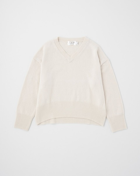 9G PLAIN STITCH V-NECK PULL OVER
