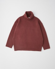 PLAIN STITCH TURTLE NECK PULL OVER 7G 詳細画像 ボルドー 11