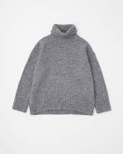PLAIN STITCH TURTLE NECK PULL OVER 3G 詳細画像 メランジ 11