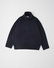 PLAIN STITCH TURTLE NECK PULL OVER 3G 詳細画像 ネイビー 11