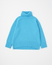 PLAIN STITCH TURTLE NECK PULL OVER 3G 詳細画像 サックス 11