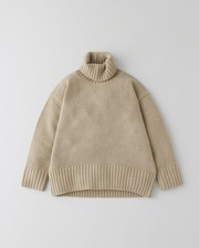 PLAIN STITCH TURTLE NECK PULL OVER 3G 詳細画像 ライトキャメル 11