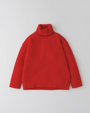 PLAIN STITCH TURTLE NECK PULL OVER 3G 詳細画像 レッド 11