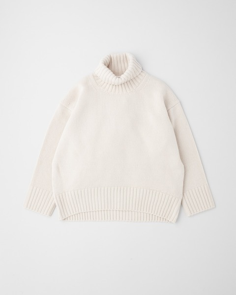 PLAIN STITCH TURTLE NECK PULL OVER 7G