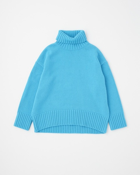 3G PLAIN STITCH TURTLE NECK PULL OVER
