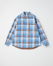 REGULAR SHIRT with FLAP POCKET 詳細画像 ブルー チェック 11