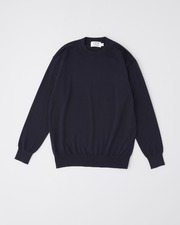 COTTON CREW KNIT PULL OVER 詳細画像 ネイビー 11