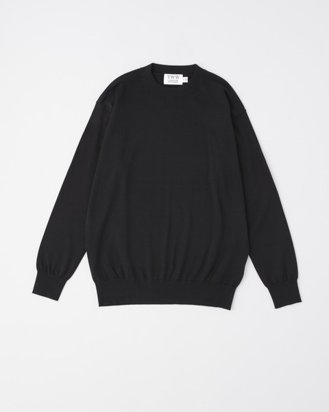 COTTON CREW KNIT PULL OVER