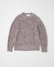 WRAP CREW KNIT PULL OVER 詳細画像 ホワイト×ミックス 11