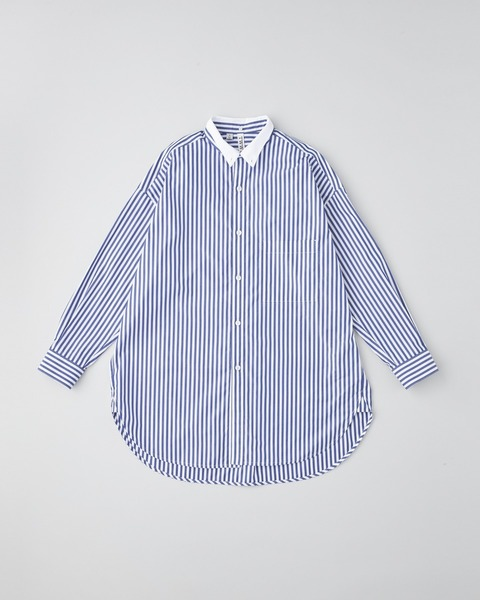 BIG TUCK-UP CONVERTIBLE COLLAR SHIRT
