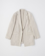 【HIGH STREET COLLECTION】BUTTONLESS JACKET 詳細画像 ベージュ 1