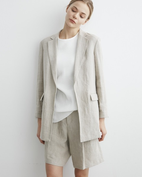 【HIGH STREET COLLECTION】BUTTONLESS JACKET