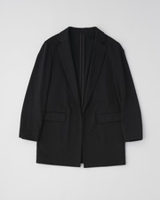 【HIGH STREET COLLECTION】BUTTONLESS JACKET 詳細画像 ブラック 1