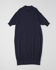 【HIGH STREET COLLECTION】SHORT SLEEVE KNIT ONE-PIECE 詳細画像 ネイビー 11