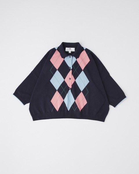 【HIGH STREET COLLECTION】ARGYLE KNIT POLO