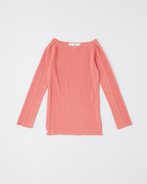 【HIGH STREET COLLECTION】LONG SLEEVE RIB KNIT PULL OVER