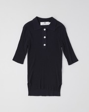 【HIGH STREET COLLECTION】SHORT SLEEVE RIB KNIT POLO 詳細画像 ネイビー 1