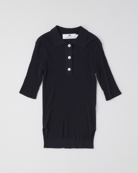 【HIGH STREET COLLECTION】SHORT SLEEVE RIB KNIT POLO