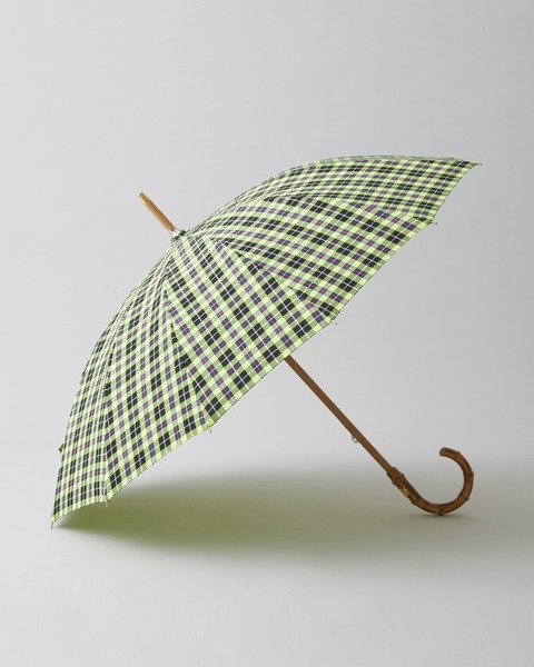 BAMBOO NEON CHECK UMBRELLA
