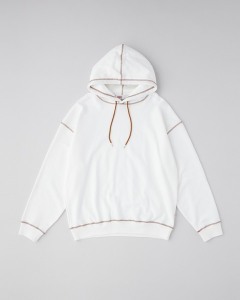 PULL OVER SWEAT PARKA COLOR STITCH