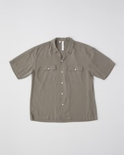 OPEN COLLAR SHIRT SHORT SLEEVE WITH DOUBLE POCKET 詳細画像 グレー 1