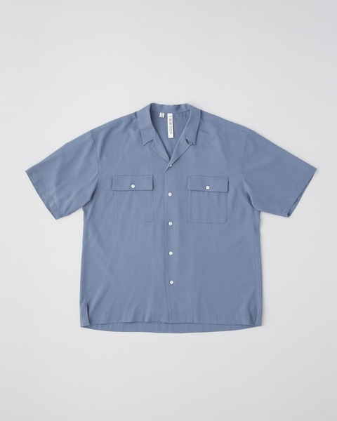 OPEN COLLAR SHIRT SHORT SLEEVE WITH DOUBLE POCKET