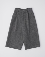 【HEAT TWEED】CULOTTE PANTS with FLAP POCKET 詳細画像 グレーヘリンボーン 11