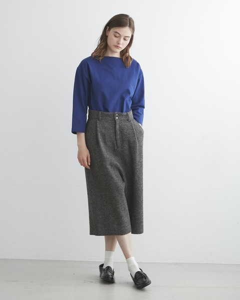 【HEAT TWEED】CULOTTE PANTS with FLAP POCKET