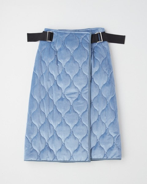 WRAP SKIRT WITH SIDE BELT