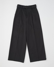 【UNION WEAR】WAIST BELT WIDE PANTS SIDE POCKET 詳細画像 ブラック 11