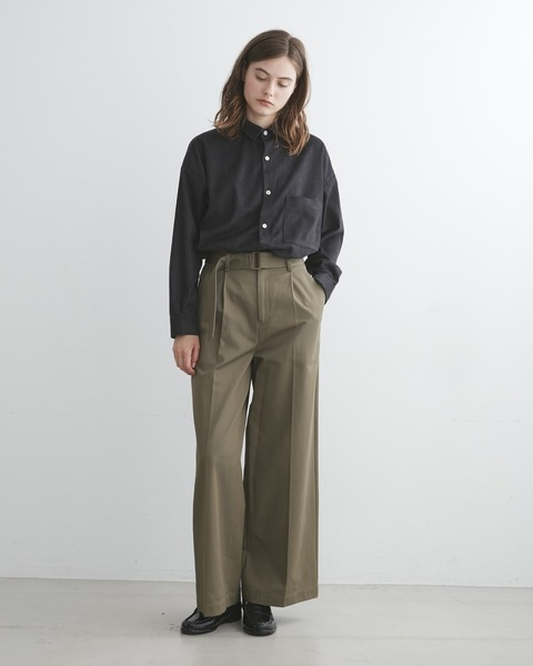 【UNION WEAR】WAIST BELT WIDE PANTS SIDE POCKET