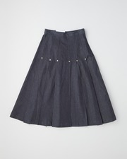 【UNION WEAR】FRONT POCKET PLEATS SKIRT 詳細画像 インディゴ 11