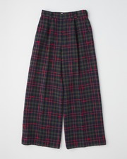 【HIGH STREET COLLECTION】TUCK WIDE PANTS 詳細画像 レッドチェック 1
