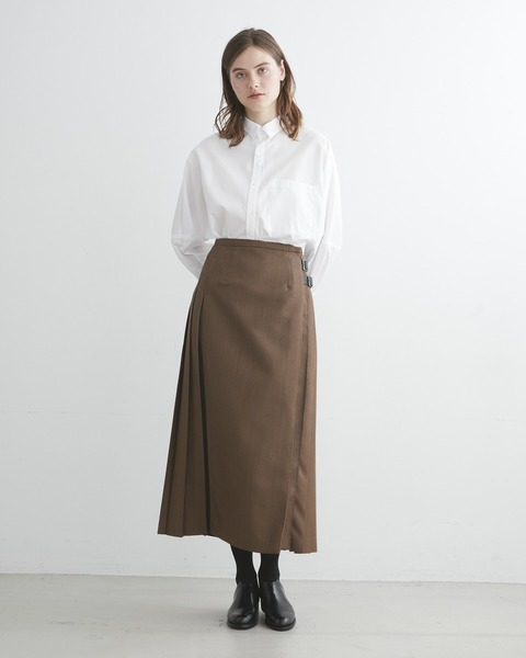 【HIGH STREET COLLECTION】BACK PLEATS WRAP SKIRT