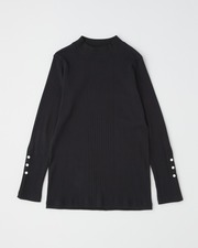 MOCK NECK RIB PULL OVER with BELT 詳細画像 ブラック 11