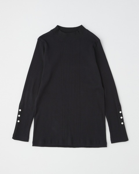 MOCK NECK RIB PULL OVER with BELT