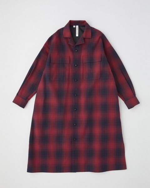 LONG SHIRT OPEN COLLAR