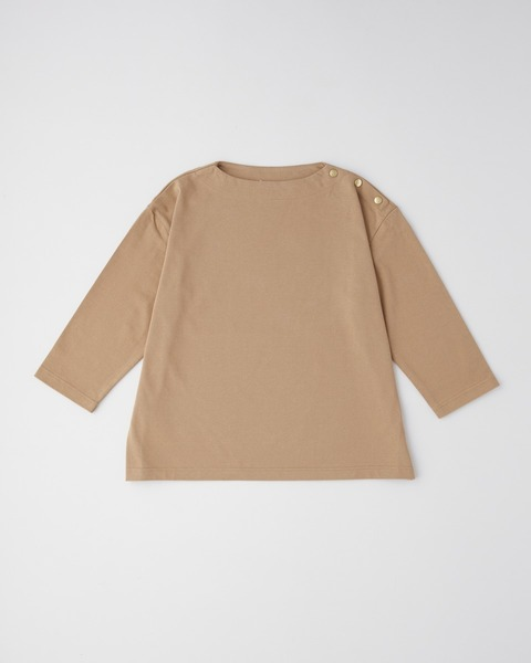 CREW NECK PULL OVER with BUTTON