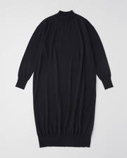 【HIGH STREET COLLECTION】RIB HIGH NECK LONG ONE PIECE 詳細画像 ネイビー 11