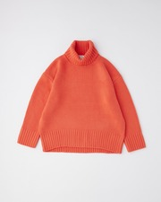 7G PLAIN STITCH TURTLE NECK PULL OVER 詳細画像 オレンジレッド 11