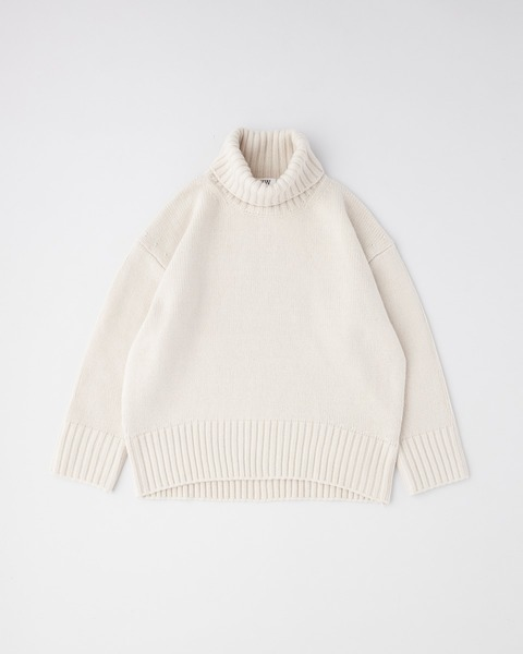 7G PLAIN STITCH TURTLE NECK PULL OVER