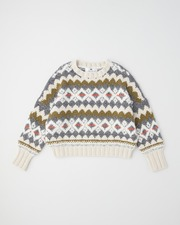 【HIGH STREET COLLECTION】HAND KNIT JACQUARD CREW NECK 詳細画像 アイボリージャカード 11
