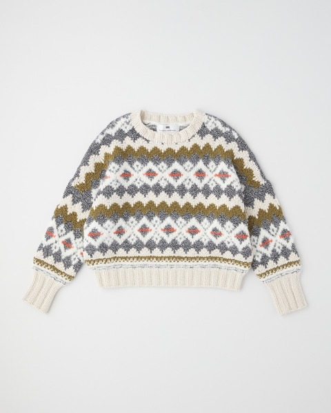 【HIGH STREET COLLECTION】HAND KNIT JACQUARD CREW NECK