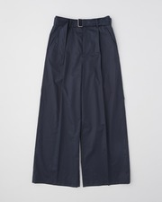 WAIST BELT WIDE PANTS SINGLE PLEATS 詳細画像 ネイビー 1