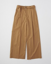 WAIST BELT WIDE PANTS SINGLE PLEATS 詳細画像 ブラウン 1