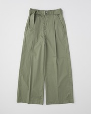 WAIST BELT WIDE PANTS SINGLE PLEATS 詳細画像 カーキ 1