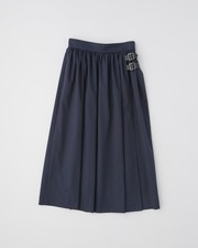 【HIGH STREET COLLECTION】GATHERED SKIRT WITH BELT 詳細画像 ネイビー 1