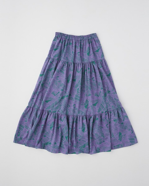 WAIST SHIRRING TIERED SKIRT